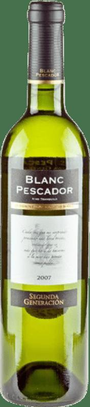 5,95 € Free Shipping | White wine Perelada Segona Generació Pescador Joven D.O. Catalunya Catalonia Spain Grenache White, Sauvignon White Bottle 75 cl
