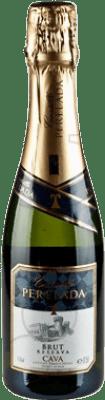 4,95 € Envoi gratuit | Blanc moussant Perelada Brut Reserva D.O. Cava Catalogne Espagne Macabeo, Xarel·lo, Parellada Demi Bouteille 37 cl