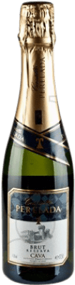 3,95 € Envío gratis | Espumoso blanco Perelada Brut Reserva D.O. Cava Cataluña España Macabeo, Xarel·lo, Parellada Media Botella 37 cl