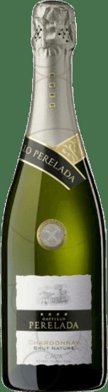 8,95 € Envio grátis | Espumante branco Perelada Brut Nature Reserva D.O. Cava Catalunha Espanha Chardonnay Garrafa 75 cl