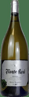 9,95 € Free Shipping | White wine Bodegas Riojanas Monte Real Semi Dry Joven D.O.Ca. Rioja The Rioja Spain Malvasía, Macabeo Magnum Bottle 1,5 L