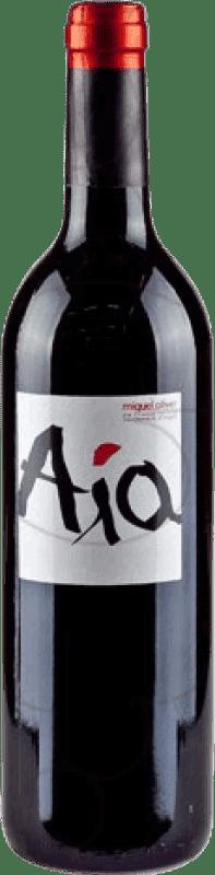 19,95 € Envío gratis | Vino tinto Miquel Oliver Aia Negre Crianza D.O. Pla i Llevant Islas Baleares España Merlot Botella 75 cl