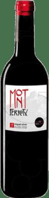 7,95 € Envío gratis | Vino tinto Miquel Oliver Mont Ferrutx Crianza D.O. Pla i Llevant Islas Baleares España Botella 75 cl