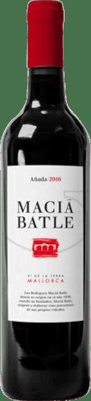9,95 € Envoi gratuit | Vin rouge Macià Batle Negre Crianza D.O. Binissalem Îles Baléares Espagne Bouteille 75 cl