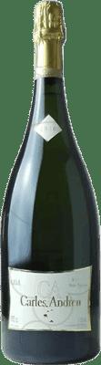 24,95 € Envío gratis | Espumoso blanco Carles Andreu Brut Nature Reserva D.O. Cava Cataluña España Macabeo, Chardonnay, Parellada Botella Mágnum 1,5 L