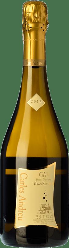 9,95 € Envío gratis | Espumoso blanco Carles Andreu Brut Nature Reserva D.O. Cava Cataluña España Macabeo, Chardonnay, Parellada Botella 75 cl