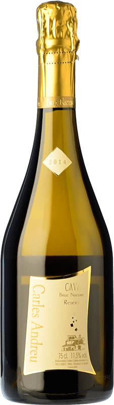 9,95 € Free Shipping | White sparkling Carles Andreu Brut Nature Reserva D.O. Cava Catalonia Spain Macabeo, Chardonnay, Parellada Bottle 75 cl