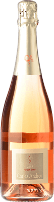 7,95 € Free Shipping | Rosé sparkling Carles Andreu Rosat Brut Joven D.O. Cava Catalonia Spain Trepat Bottle 75 cl | Thousands of wine lovers trust us to get the best price guarantee, free shipping always and hassle-free shopping and returns.