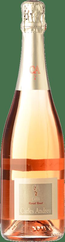 7,95 € Free Shipping | Rosé sparkling Carles Andreu Rosat Brut Joven D.O. Cava Catalonia Spain Trepat Bottle 75 cl
