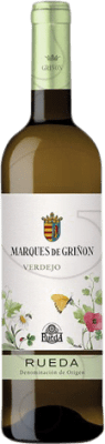 12,95 € Free Shipping | White wine Marqués de Griñón Joven D.O. Rueda Castilla y León Spain Verdejo Magnum Bottle 1,5 L
