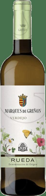 12,95 € Envío gratis | Vino blanco Marqués de Griñón Joven D.O. Rueda Castilla y León España Verdejo Botella Mágnum 1,5 L