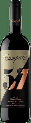 26,95 € Free Shipping | Red wine Campillo 57 Gran Reserva D.O.Ca. Rioja The Rioja Spain Tempranillo, Graciano Bottle 75 cl