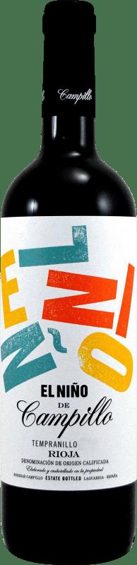 5,95 € Free Shipping | Red wine Campillo El Niño D.O.Ca. Rioja The Rioja Spain Tempranillo, Graciano Bottle 75 cl