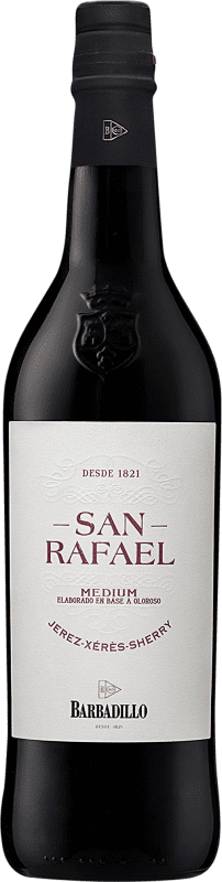 17,95 € Free Shipping | Fortified wine Barbadillo San Rafael Oloroso D.O. Jerez-Xérès-Sherry Andalucía y Extremadura Spain Palomino Fino Bottle 75 cl