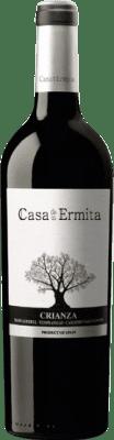 13,95 € Envío gratis | Vino tinto Casa de la Ermita Crianza D.O. Jumilla Levante España Tempranillo, Cabernet Sauvignon, Monastrell Botella Mágnum 1,5 L