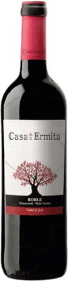 6,95 € Free Shipping | Red wine Casa de la Ermita Roble D.O. Jumilla Levante Spain Monastrell, Petit Verdot Bottle 75 cl
