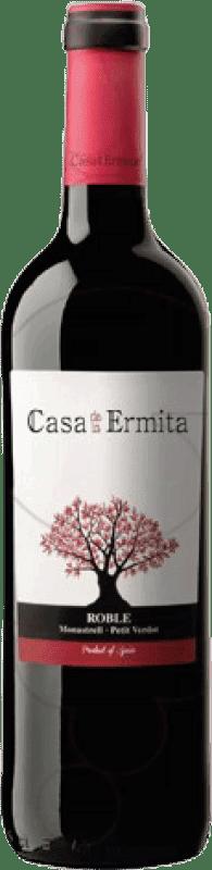 4,95 € Envío gratis | Vino tinto Casa de la Ermita Roble D.O. Jumilla Levante España Monastrell, Petit Verdot Botella 75 cl