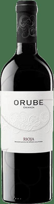 12,95 € Envoi gratuit | Vin rouge Solar Viejo Orube Crianza D.O.Ca. Rioja La Rioja Espagne Tempranillo, Grenache, Graciano Bouteille Magnum 1,5 L