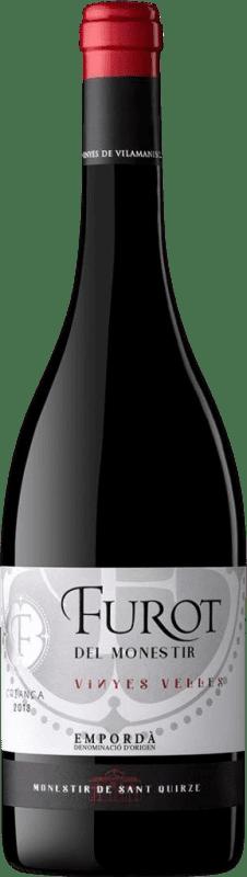 8,95 € Envío gratis | Vino tinto Oliveda Furot Crianza D.O. Empordà Cataluña España Mazuelo, Cariñena Botella 75 cl
