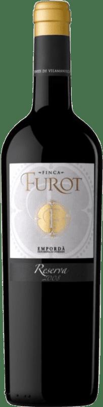 12,95 € Free Shipping | Red wine Oliveda Furot Reserva D.O. Empordà Catalonia Spain Merlot, Grenache, Cabernet Sauvignon Bottle 75 cl