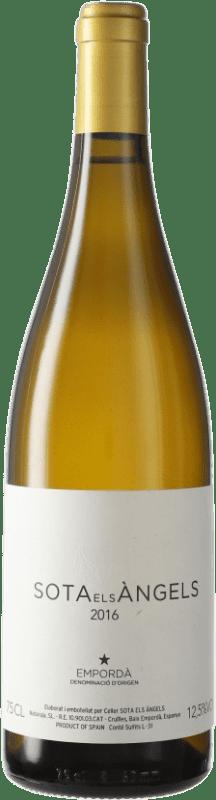 33,95 € Free Shipping | White wine Sota els Àngels Crianza D.O. Empordà Catalonia Spain Viognier, Picapoll Bottle 75 cl