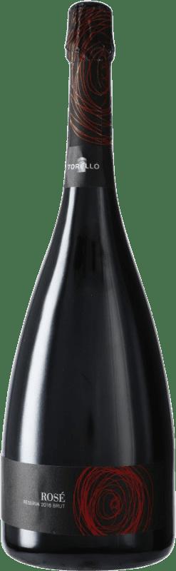 29,95 € Free Shipping | Rosé sparkling Torelló Rosé Brut Joven D.O. Cava Catalonia Spain Grenache, Monastrell Magnum Bottle 1,5 L