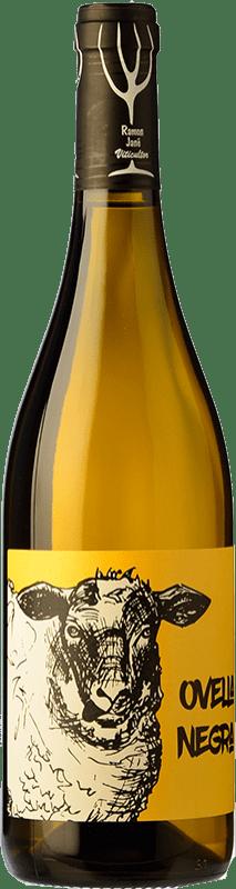 12,95 € Envío gratis | Vino blanco Mas Candí Ovella Negra Joven D.O. Penedès Cataluña España Garnacha Blanca Botella 75 cl