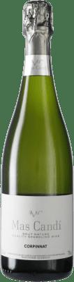 9,95 € Kostenloser Versand | Weißer Sekt Mas Candí Brut Natur Joven D.O. Cava Katalonien Spanien Macabeo, Xarel·lo, Parellada Flasche 75 cl