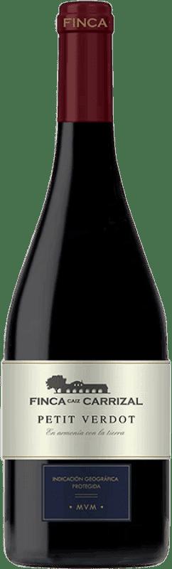 23,95 € Envío gratis | Vino tinto Dehesa del Carrizal Finca Caiz Crianza D.O.P. Vino de Pago Dehesa del Carrizal Castilla la Mancha y Madrid España Petit Verdot Botella Mágnum 1,5 L