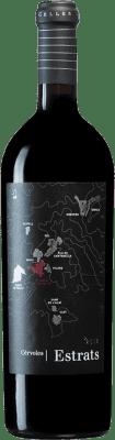 49,95 € Envío gratis | Vino tinto Cérvoles Estrats D.O. Costers del Segre Cataluña España Tempranillo, Merlot, Garnacha, Cabernet Sauvignon Botella 75 cl