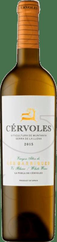 21,95 € Free Shipping | White wine Cérvoles Crianza D.O. Costers del Segre Catalonia Spain Macabeo, Chardonnay Bottle 75 cl