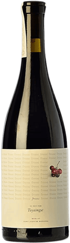 8,95 € Free Shipping   Red wine Tayaimgut Frsssc Crianza Catalonia Spain Merlot Bottle 75 cl