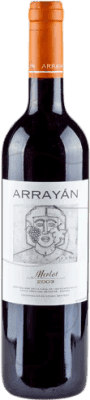 16,95 € Free Shipping | Red wine Arrayán Negre Crianza D.O. Méntrida Castilla la Mancha y Madrid Spain Merlot Bottle 75 cl