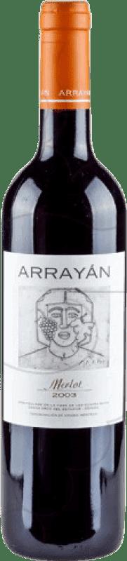 14,95 € Free Shipping | Red wine Arrayán Negre Crianza D.O. Méntrida Castilla la Mancha y Madrid Spain Merlot Bottle 75 cl
