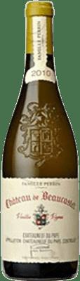 102,95 € Free Shipping | White wine Château Beaucastel Crianza Otras A.O.C. Francia France Viognier, Marsanne, Bourboulenc, Clairette Blanche, Picardan Bottle 75 cl