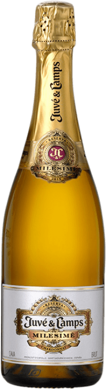 23,95 € Free Shipping | White sparkling Juvé y Camps Milesime Brut Gran Reserva D.O. Cava Catalonia Spain Chardonnay Bottle 75 cl