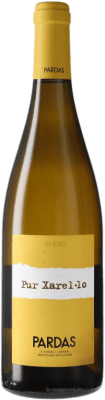 18,95 € Free Shipping | White wine Pardas Pur Crianza D.O. Penedès Catalonia Spain Xarel·lo Bottle 75 cl