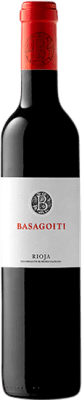 7,95 € Free Shipping | Red wine Basagoiti Crianza D.O.Ca. Rioja The Rioja Spain Tempranillo Half Bottle 50 cl