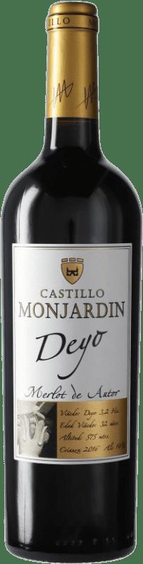 11,95 € Free Shipping | Red wine Castillo de Monjardín Deyo Crianza D.O. Navarra Navarre Spain Merlot Bottle 75 cl