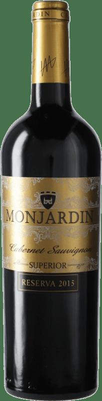 13,95 € Free Shipping | Red wine Castillo de Monjardín Reserva D.O. Navarra Navarre Spain Tempranillo, Merlot, Cabernet Sauvignon Bottle 75 cl