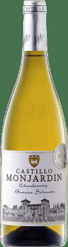11,95 € Free Shipping | White wine Castillo de Monjardín Fermentado Barrica Crianza D.O. Navarra Navarre Spain Chardonnay Bottle 75 cl