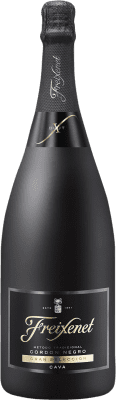 12,95 € Free Shipping | White sparkling Freixenet Cordon Negro Brut Reserva D.O. Cava Catalonia Spain Macabeo, Xarel·lo, Parellada Magnum Bottle 1,5 L | Thousands of wine lovers trust us to get the best price guarantee, free shipping always and hassle-free shopping and returns.