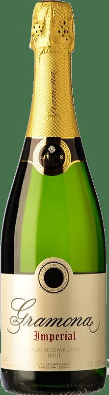 22,95 € 免费送货 | 白起泡酒 Gramona Imperial 香槟 Gran Reserva D.O. Cava 加泰罗尼亚 西班牙 Macabeo, Xarel·lo, Chardonnay 瓶子 75 cl