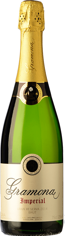 22,95 € Free Shipping | White sparkling Gramona Imperial Brut Gran Reserva D.O. Cava Catalonia Spain Macabeo, Xarel·lo, Chardonnay Bottle 75 cl