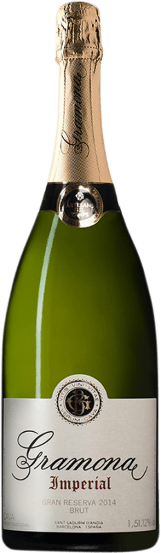 39,95 € Free Shipping | White sparkling Gramona Imperial Brut Gran Reserva D.O. Cava Catalonia Spain Macabeo, Xarel·lo, Chardonnay Magnum Bottle 1,5 L