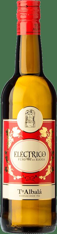 7,95 € Free Shipping | Fortified wine Toro Albalá Eléctrico en Rama Fino D.O. Montilla-Moriles Andalucía y Extremadura Spain Pedro Ximénez Bottle 75 cl