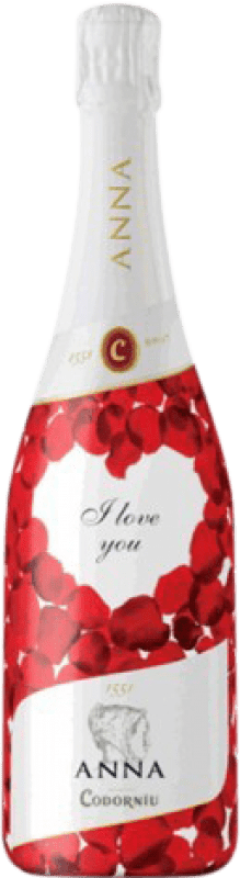 11,95 € Free Shipping | White sparkling Codorníu Anna I Love You Brut Reserva D.O. Cava Catalonia Spain Macabeo, Xarel·lo, Chardonnay, Parellada Bottle 75 cl