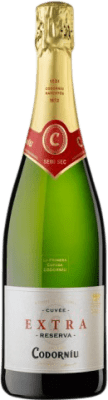 7,95 € Free Shipping | White sparkling Codorníu Extra Semi Dry D.O. Cava Catalonia Spain Macabeo, Xarel·lo, Parellada Bottle 75 cl | Thousands of wine lovers trust us to get the best price guarantee, free shipping always and hassle-free shopping and returns.