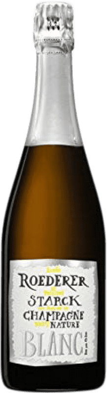 83,95 € Free Shipping | White sparkling Louis Roederer Starck Brut Nature Gran Reserva 2006 A.O.C. Champagne France Pinot Black, Chardonnay Bottle 75 cl
