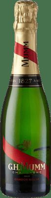 19,95 € Envoi gratuit | Blanc moussant G.H. Mumm Cordon Rouge Brut Gran Reserva A.O.C. Champagne France Pinot Noir, Chardonnay, Pinot Meunier Demi Bouteille 37 cl